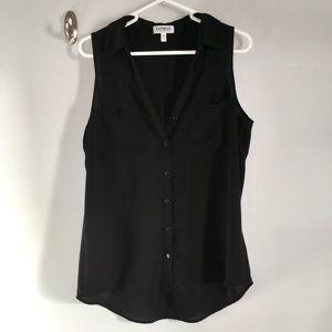 Black sleeveless portofino top.